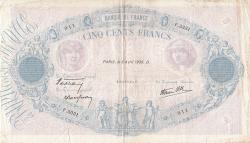 Image #1 of 500 Francs 1939 (6. IV.)