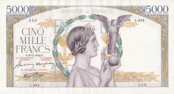 Image #1 of 5000 Francs 1942 (19. III.)