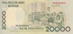 Imaginea #2 a 20 000 Rupiah 1998/1999
