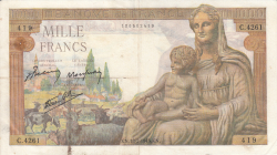 Image #1 of 1000 Francs 1943 (18. II.)
