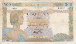 Image #1 of 500 Francs 1941 (8. V.)