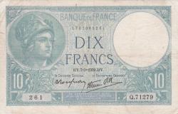 Imaginea #1 a 10 Franci 1939 (7. IX.)