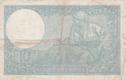 Image #2 of 10 Francs 1940 (14. XI.)