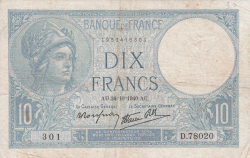 Image #1 of 10 Francs 1940 (24. X.)