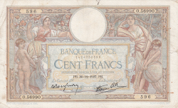 Image #1 of 100 Francs 1937 (30. XII.)