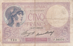 Image #1 of 5 Francs 1933 (6. VII.)