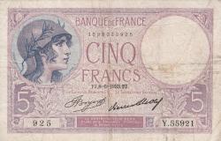 Image #1 of 5 Francs 1933 (8. VI.)