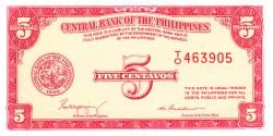 Image #1 of 5 Centavos ND (1949)
