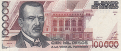 Image #1 of 100,000 Pesos 1988 (4. I.) - Serie V
