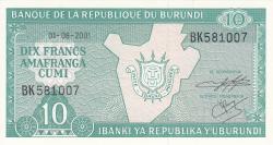 Image #1 of 10 Francs 2001 (1. VIII.)