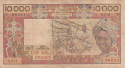 Imaginea #1 a 10 000 Franci ND (1991)