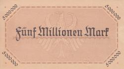 Image #2 of 5 Millionen (5 000 000) Mark 1923 (18. VIII.) - Reihe 2