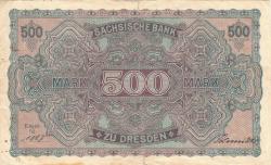 500 Mark 1922 (1. VII.) - Ser. V