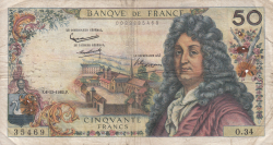 Image #1 of 50 Francs 1962 (6. XII.)