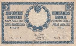 Imaginea #1 a 5 Markka 1909 (1918)