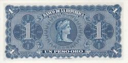 Imaginea #2 a 1 Peso Oro 1953 (7. VIII.)