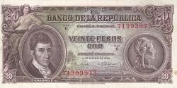 Imaginea #1 a 20 Pesos Oro 1965 (2. I.)