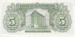 Imaginea #2 a 5 Pesos Oro 1960 (20. VII.)