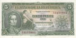 Imaginea #1 a 5 Pesos Oro 1960 (20. VII.)