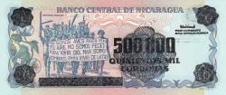 Image #2 of 500 000 Córdobas pe 20 Córdobas ND (1990)