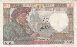 Imaginea #1 a 50 Franci 1941 (2. X.)