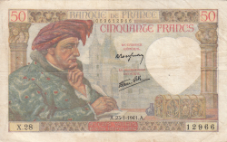 Image #1 of 50 Francs 1941 (23. I.)