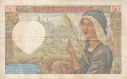 Image #2 of 50 Francs 1941 (23. I.)