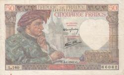 Image #1 of 50 Francs 1942 (8. I.)