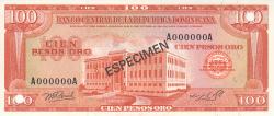 Imaginea #1 a 100 Pesos Oro 1976 - SPECIMEN