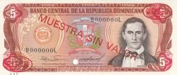 Imaginea #1 a 5 Pesos Oro 1985 - SPECIMEN