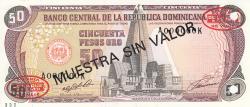 Imaginea #1 a 50 Pesos Oro 1991 - SPECIMEN