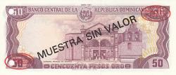 Imaginea #2 a 50 Pesos Oro 1991 - SPECIMEN