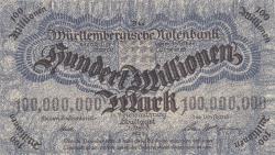 Image #1 of 100 Millionen (100 000 000) Mark 1923 (1. VIII.)