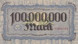 Image #2 of 100 Millionen (100 000 000) Mark 1923 (1. VIII.)
