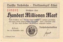 Image #1 of 100 Millionen (100 000 000) Mark 1923 (22. IX.)