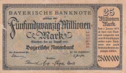 Image #1 of 25 Millionen (25 000 000) Mark 1923 (20. VIII.)