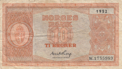 Image #1 of 10 Kroner 1952