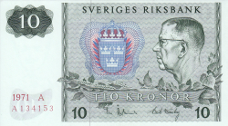 Image #1 of 10 Kronor 1971