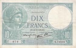 Imaginea #1 a 10 Franci 1939 (12. X.)