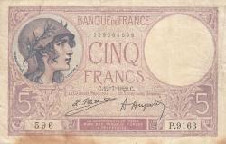 Image #1 of 5 Francs 1922 (12. VII.)
