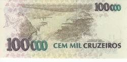 Image #2 of 100 Cruzeiros Reais on 100,000 Cruzeiros ND (1993)