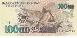 Image #1 of 100 Cruzeiros Reais on 100,000 Cruzeiros ND (1993)