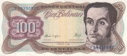 Imaginea #1 a 100 Bolivares 1987 (3. II.)