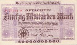 Image #1 of 50 Milliarden (50 000 000 000) Mark 1923 (22. X.) - 2