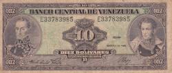 Imaginea #1 a 10 Bolívares 1986 (18. III.)