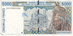 Image #1 of 5000 Francs (20)02