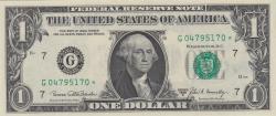 Image #1 of 1 Dollar 1969C - G ((bancnotă de înlocuire))