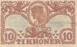 Imaginea #2 a 10 Coroane 1943 - Serie T (semnături Svendsen / Hannibal)