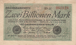 Image #1 of 2 Billionen Mark (2.000.000.000.000) 1923 (5. XI.)