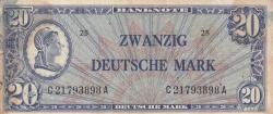 Image #1 of 20 Deutsche Mark ND (1948)